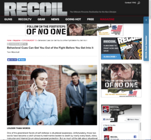 Screen capture of Recoil Magazine article